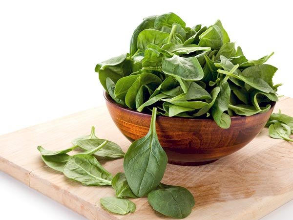 Spinach hair mask for long hair